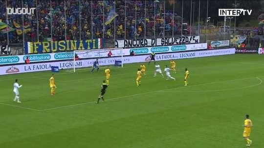 Le 50eme but d'Icardi avec l'Inter. dugout