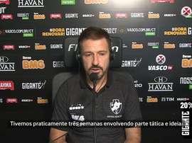 A evolução do time do Vasco foi comemorada pelo técnico Ramon. DUGOUT