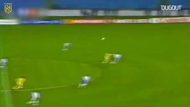 Le superbe but de Pedros face à Porto en 1995. DUGOUT