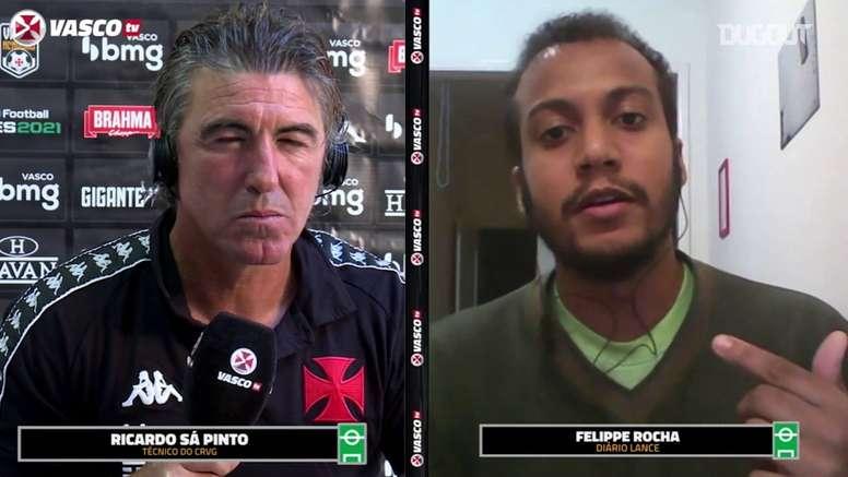 Sá Pinto projeta jogo contra o São Paulo. DUGOUT