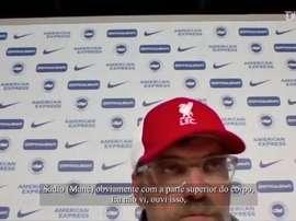 Klopp fala sobre lances da arbitragem no empate do Liverpool com o Brighton. DUGOUT