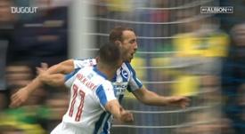 Glenn Murray scored three in Brighton's 5-0 win over Norwich. DUGOUT