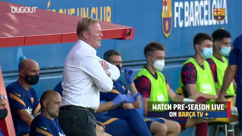 Bastidores da estreia de Ronald Koeman como técnico do Barcelona. DUGOUT