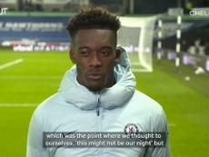 Hudson-Odoi spoke after the match. DUGOUT