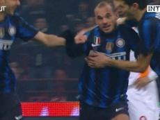 Le superbe but de Sneijder contre l'AS Roma. DUGOUT