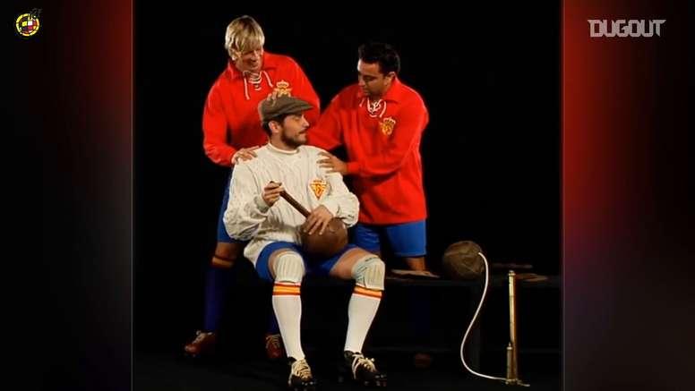 VÍDEO: el día que Casillas, Xavi y Torres viajaron al pasado. DUGOUT