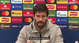 Alisson elogia Fabinho, mas diz que Liverpool sentirá falta de Van Dijk. DUGOUT