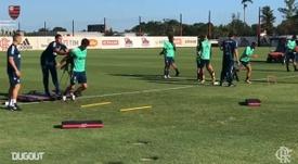 Veja a preparação do Flamengo. DUGOUT