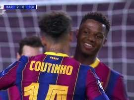 Coutinho marca seu primeiro gol em Champions no retorno ao Barcelona. DUGOUT