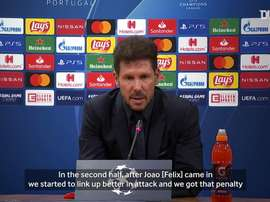 Simeone said RB Leipzig were the better side. DUGOUT