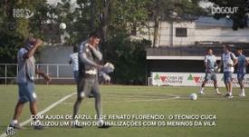 Santos treina finalização para duelo contra o Internacional. DUGOUT