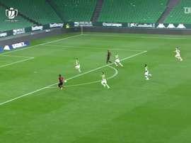 Mikel Oyarzabal put Real Sociedad ahead in the Copa del Rey. DUGOUT