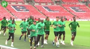 Nigeria jugó un preparatorio para el Mundial 2018 contra Inglaterra en Londres. Dugout