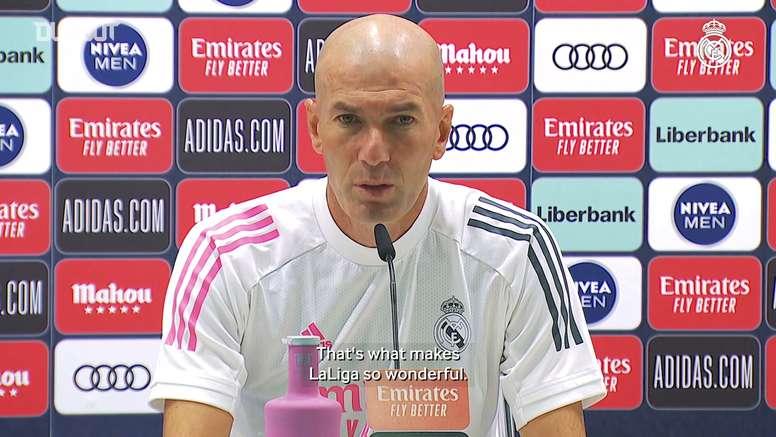 Real Madrid coach Zinedine Zidane will not take Huesca lightly. DUGOUT