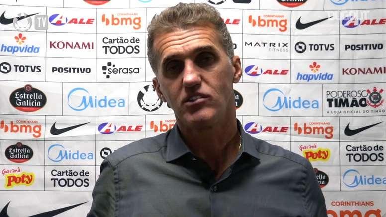 Técnico do Corinthians falou após vitória na Arena da Baixada. DUGOUT