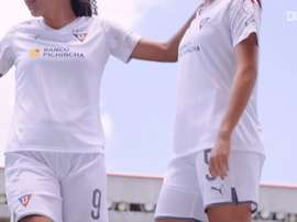 LDU Quito Women's unveil their new kit. DUGOUT