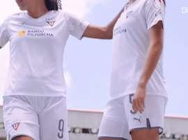 LDU Quito Women's unveil their new kit. DUGOUT