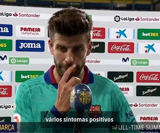 Confira como foi a entrevista de Piqué após a vitória do Barcelona. DUGOUT