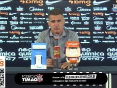 Técnico Vagner Mancini falou com a imprensa após o empate do Corinthians contra o Grêmio. DUGOUT