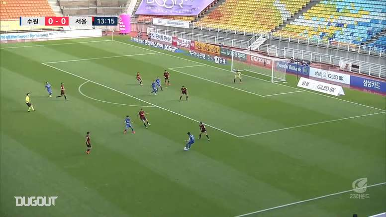 Taggart scores a screamer for the Suwon Bluewings. DUGOUT