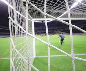 Club América's finishing practice at the Estadio Azteca. DUGOUT