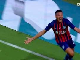 O último jogo antes da interrupção do futebol argentino foi entre San Lorenzo e Lanús. DUGOUT
