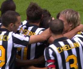 Del Piero scored in Juventus' 4-0 win over Lecce back in 2010. DUGOUT
