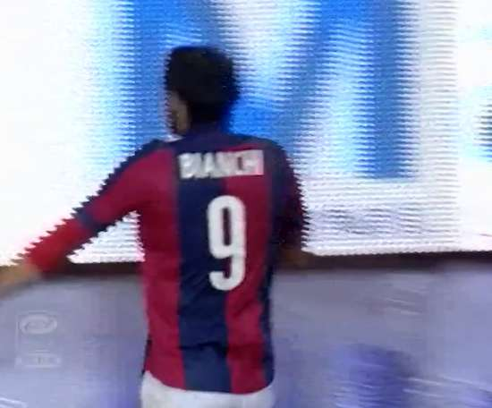 Rolando Bianchi scored twice in Bologna's draw with Napoli. DUGOUT