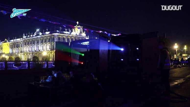Zenit celebra dobradinha na Rússia. DUGOUT