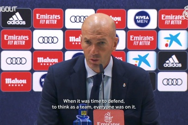 Zidane: 'There's still a long way and we need to keep it up'. DUGOUT