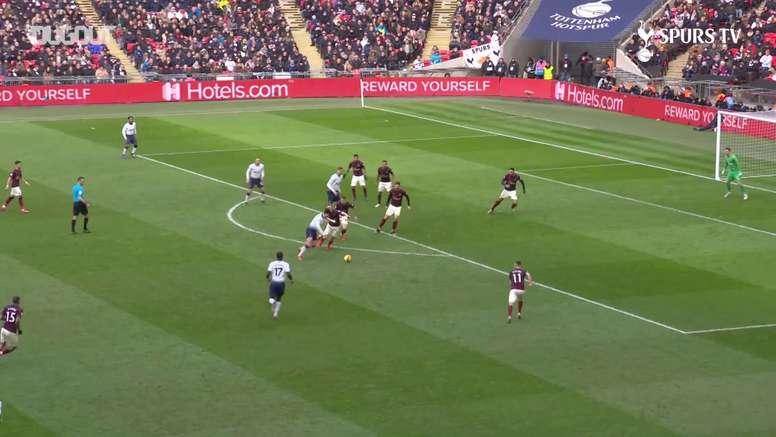 Le but de Son contre Newcastle. Dugout