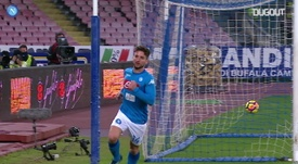 Dries Mertens scored in Napoli's victory over Lazio in 2018. DUGOUT