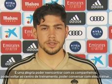 Federico Valverde analisou o retorno aos treinos e projetou as expectativas para a reta final. DUGOU