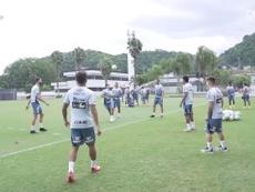 Santos treina para duelo contra o Sport. DUGOUT