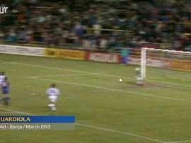 Some stars' first Barca goals. DUGOUT