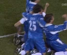 A terrific goal from Di Matteo against Arsenal. DUGOUT
