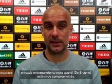 Los elogios de Guardiola a De Bruyne tras su enésima exhibición. Captura/Dugout