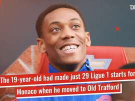 Anthony Martial has been at Man Utd since 2015. DUGOUT