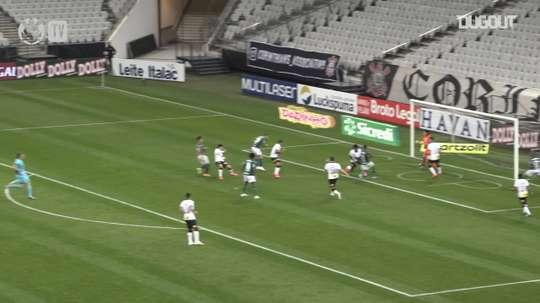 VÍDEO: la antológica actuación de Cássio para frenar a Palmeiras. Captura/DUGOUT