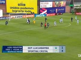 Sporting Cristal barrió a Deportivo Llacuabamba. DUGOUT