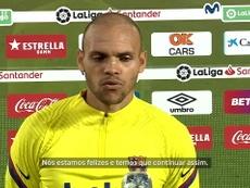 Braithwaite vibra após marcar 1º gol pelo Barça. DUGOUT