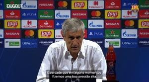 Setién analisa vitória do Barça sobre o Napoli. DUGOUT
