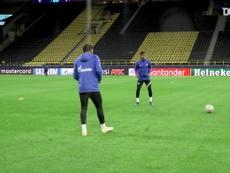 VIDEO : L'entrainement du Zenith au Signal Iduna Park. Dugout