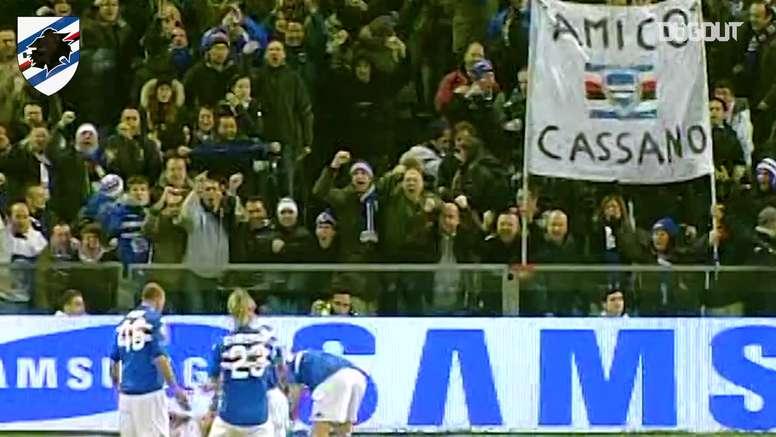 Il gran gol contro la Lazio. Dugout