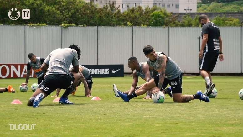 Last training session of Corinthians before traveling to Fortaleza. DUGOUT