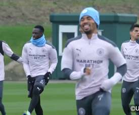 Man City trained. DUGOUT