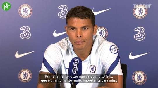 Thiago Silva confirma estreia pelo Chelsea na Copa da Liga. DUGOUT