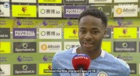 Sterling wants to reach 20 Premier League goals. DUGOUT