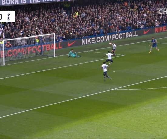 Chelsea beat Tottenham 2-1 in the Premier League back in February. DUGOUT