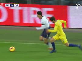 La rete di Son contro il Chelsea. Dugout